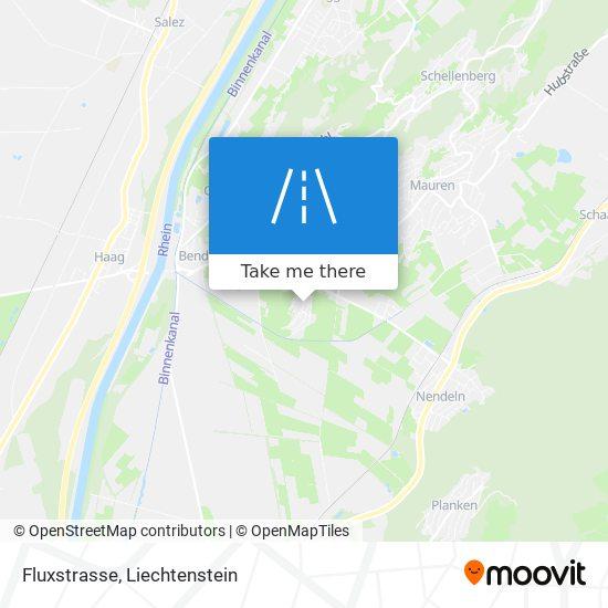 Fluxstrasse map