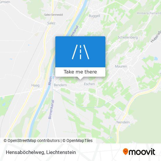 Hensaböchelweg map