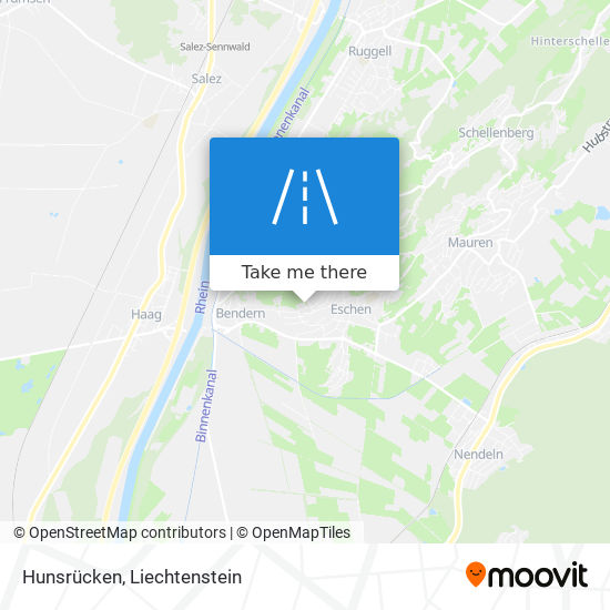 Hunsrücken map