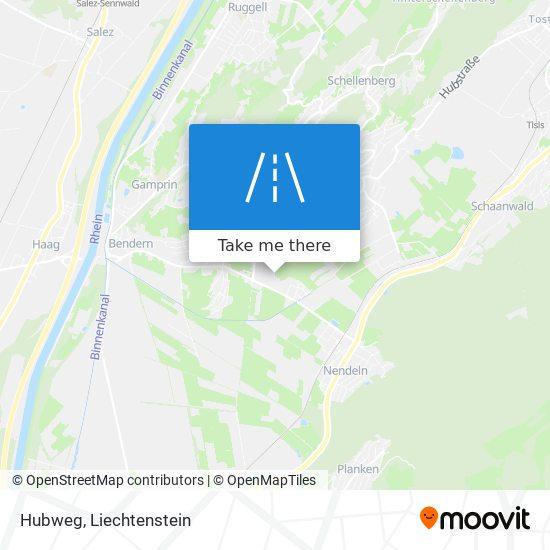 Hubweg map