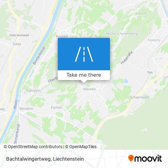 Bachtalwingertweg map