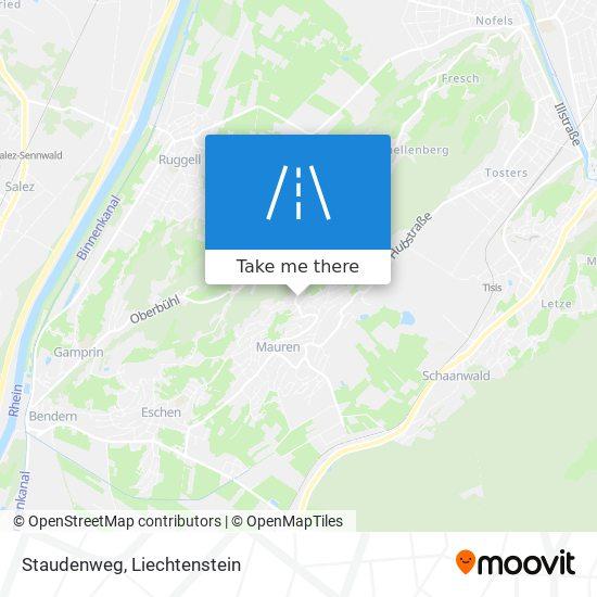 Staudenweg map