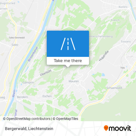 Bergerwald map