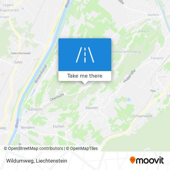 Wildumweg map