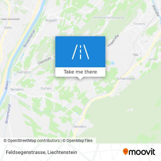 Feldsegenstrasse map