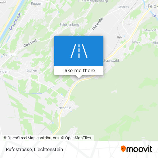 Rüfestrasse map