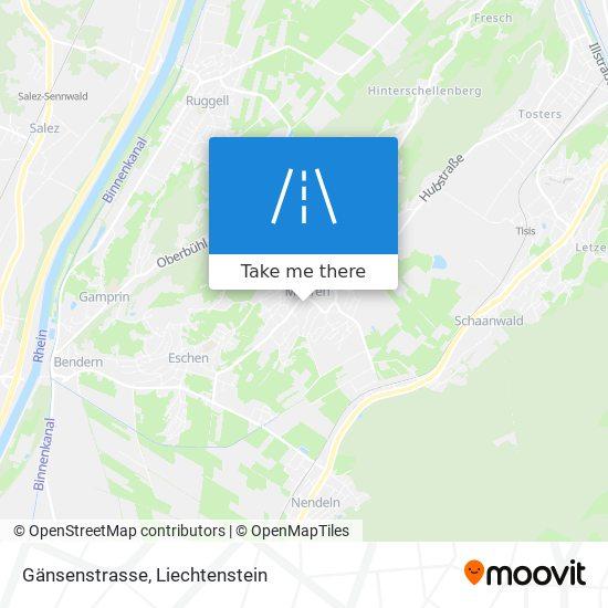 Gänsenstrasse map