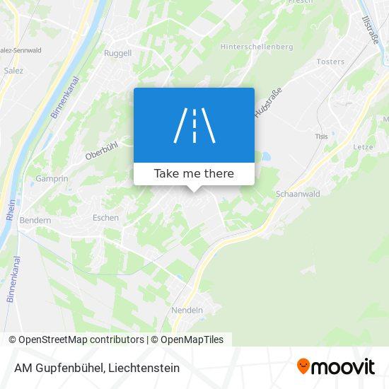 AM Gupfenbühel map