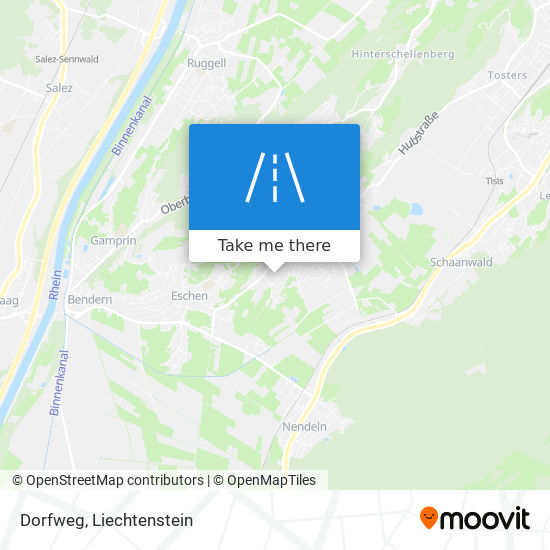 Dorfweg map