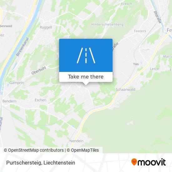 Purtschersteig map