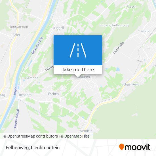 Felbenweg map