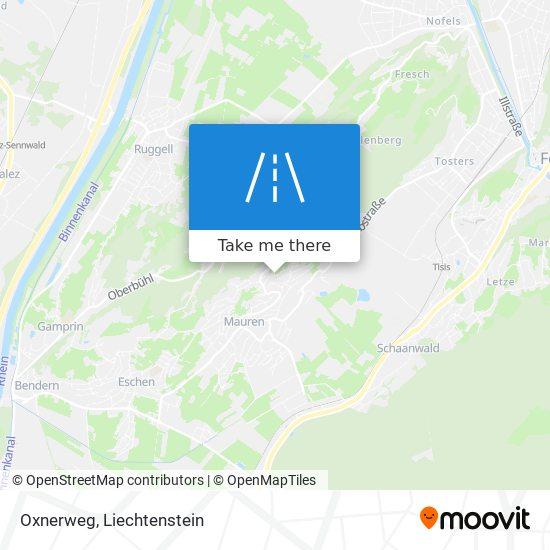 Oxnerweg map