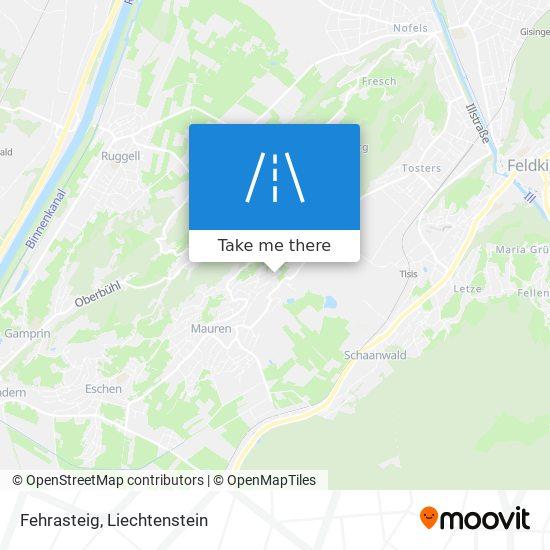 Fehrasteig map