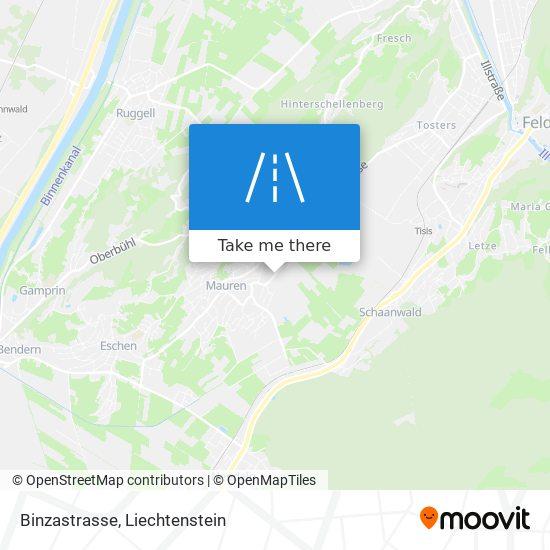 Binzastrasse map