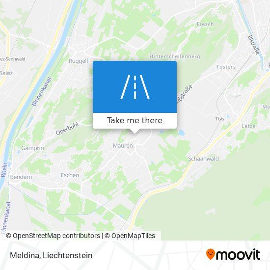 Meldina map
