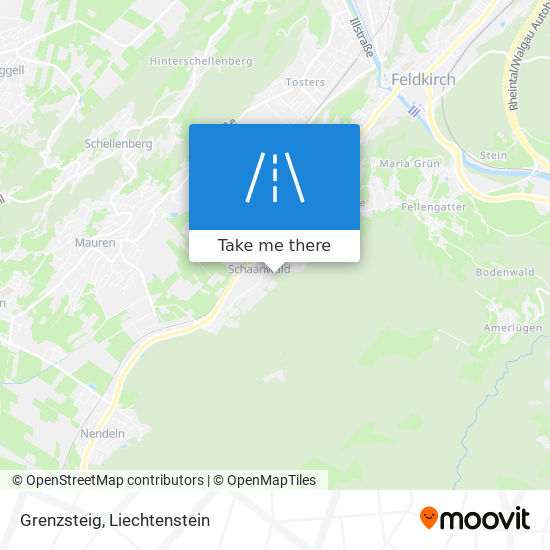 Grenzsteig map