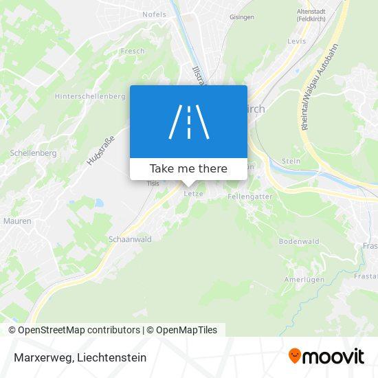 Marxerweg map