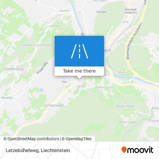 Letzebühelweg map
