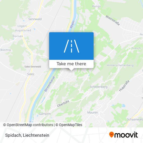 Spidach map