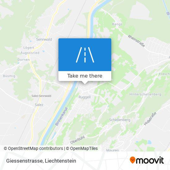 Giessenstrasse map
