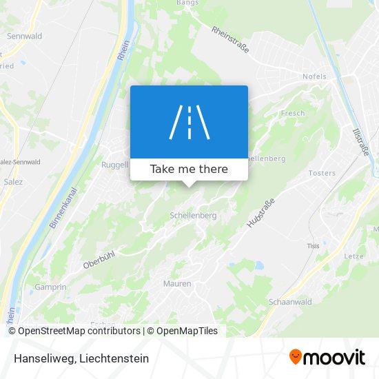 Hanseliweg map