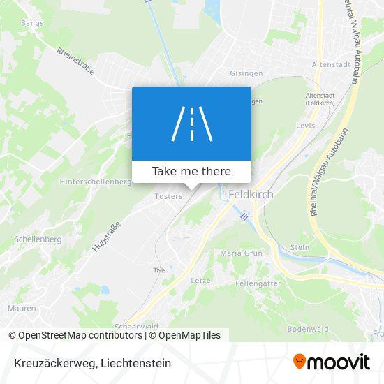 Kreuzäckerweg map