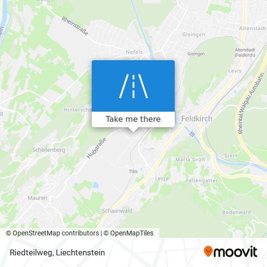Riedteilweg map