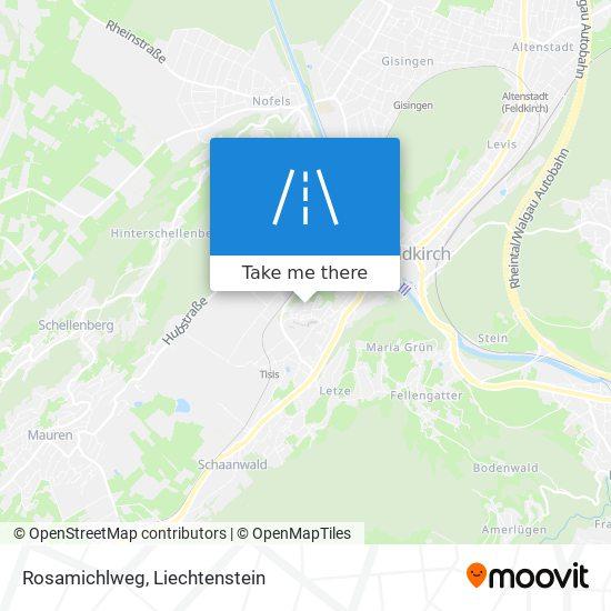 Rosamichlweg map