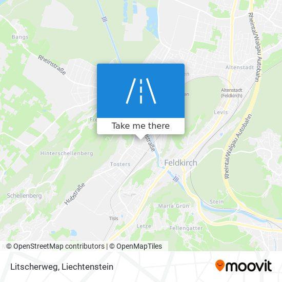 Litscherweg map