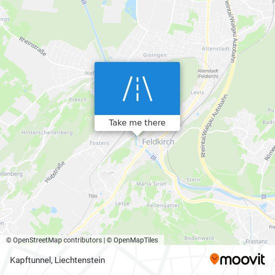 Kapftunnel map