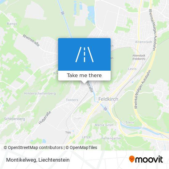 Montikelweg map