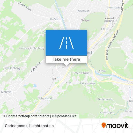 Carinagasse map