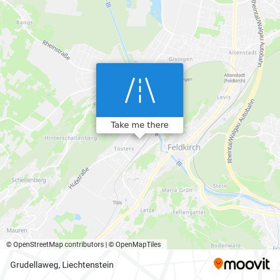 Grudellaweg map