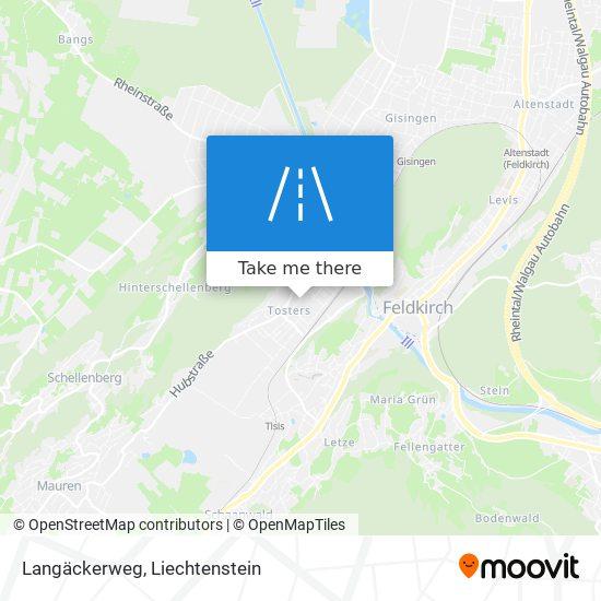 Langäckerweg map