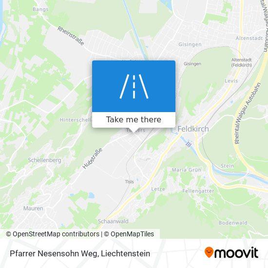 Pfarrer Nesensohn Weg map