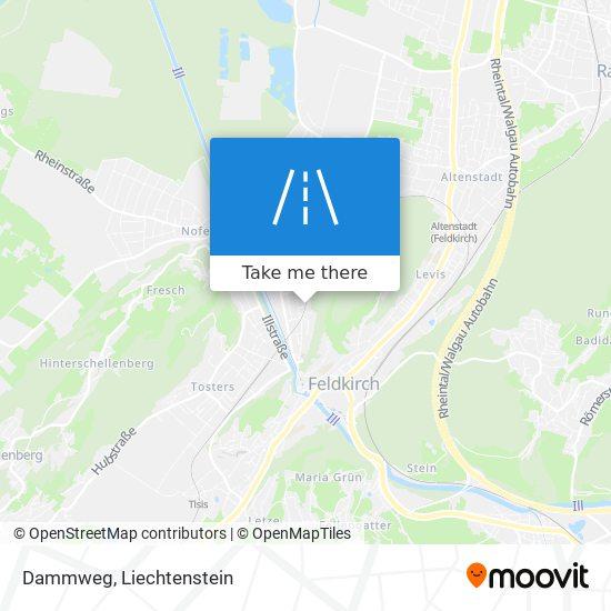 Dammweg map