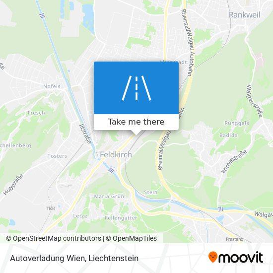 Autoverladung Wien map