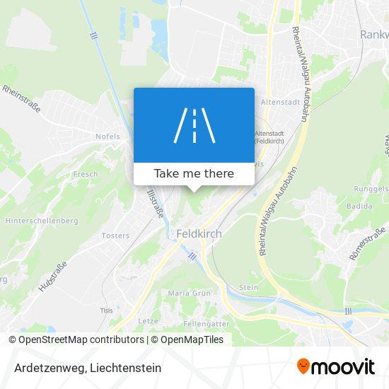 Ardetzenweg map