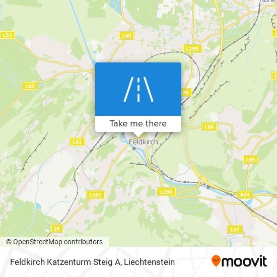 Feldkirch Katzenturm Steig A map
