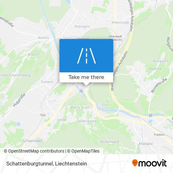 Schattenburgtunnel map