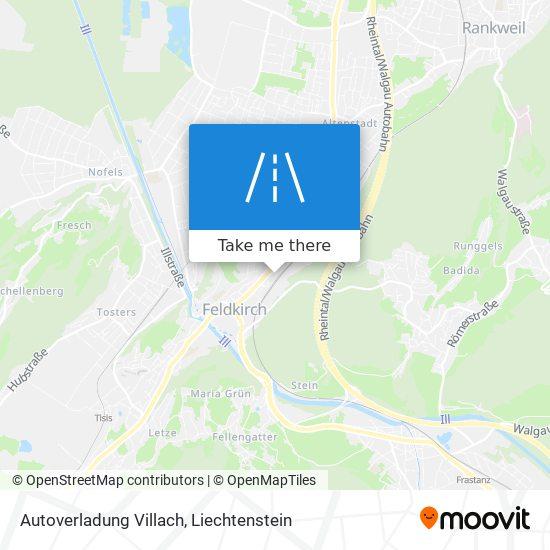 Autoverladung Villach map