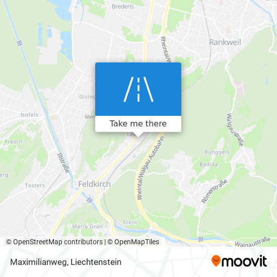 Maximilianweg map