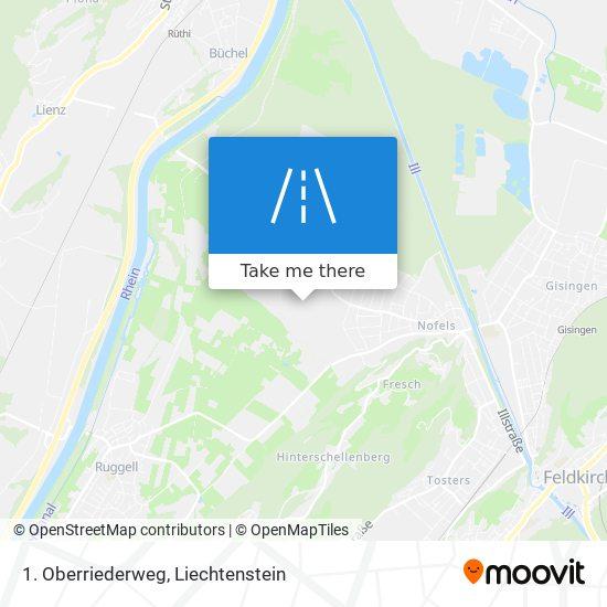1. Oberriederweg map