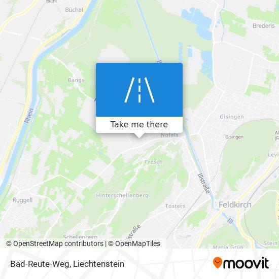 Bad-Reute-Weg map