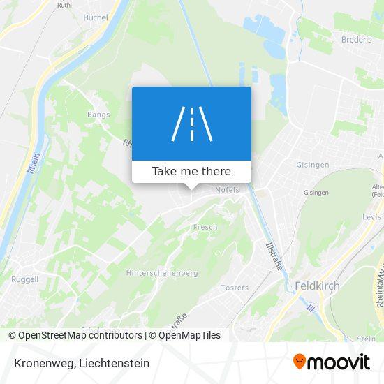 Kronenweg map