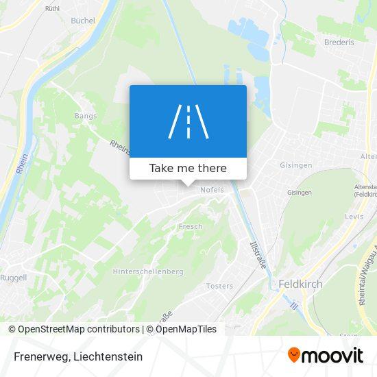 Frenerweg map