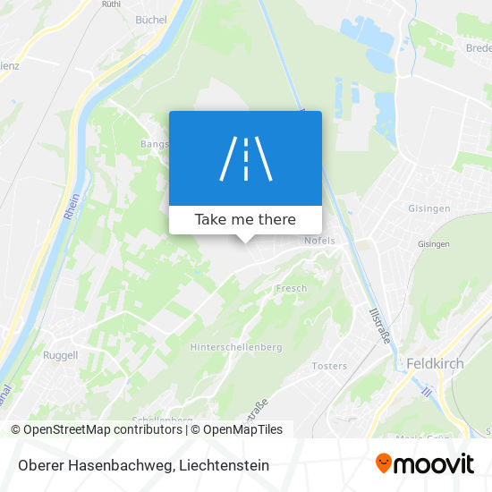 Oberer Hasenbachweg map