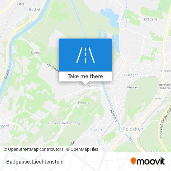 Badgasse map