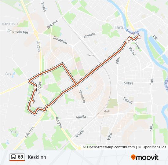 dbca05acc51 69 Route: Time Schedules, Stops & Maps - Kesklinn I