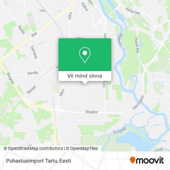 Puhastusimport Tartu kaart